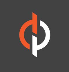 dp letter based vector image