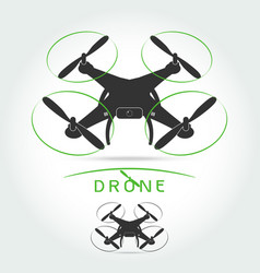 drone with video camera isolated vector image