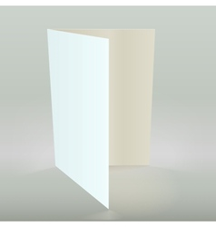 Empty greeting card isolated vector
