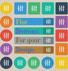 Equalizer icon sign Set of twenty colored flat vector image