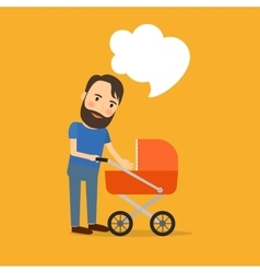 Father care for the child vector image