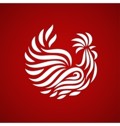 Fire rooster logo vector
