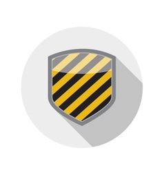 Flat design concept shield icon with long sh vector