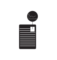 Flat icon in black and white business document vector