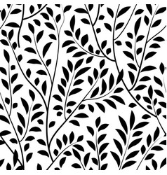 floral leaves seamless pattern garden branch vector image