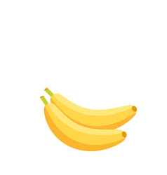 fruit icon banana white background image vector image