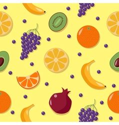 Fruits Background Seamless Pattern with Fruits vector image