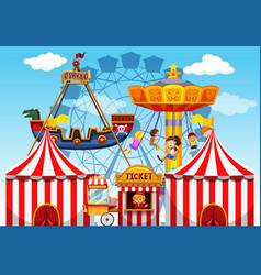 Fun fair raide background vector