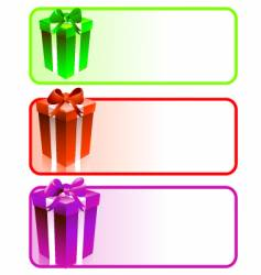 gift box banners vector image