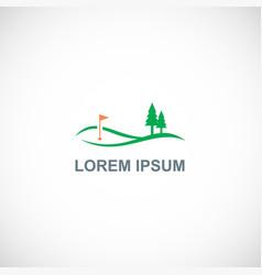 golf pine tree landscape logo vector image