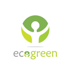 green ecology logo vector image
