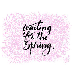 hand drawn lettering spring them vector image