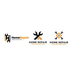 house repair logo template vector image