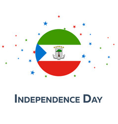 independence day of equatorial guinea patriotic vector image