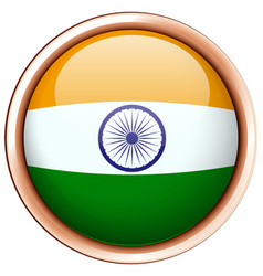 India flag on round frame vector