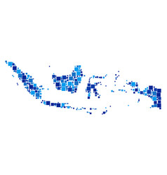 indonesia map composition of squares vector image