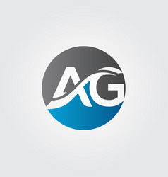 initial ag letter logo with creative modern vector image