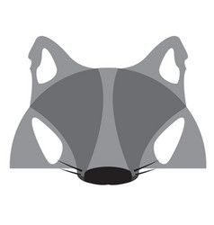 Isolated werewolf mask vector