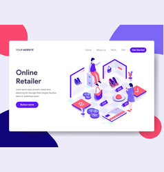 landing page template online retailer concept vector image