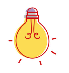 light bulb energy object icon vector image
