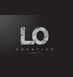 Lo l o letter logo with zebra lines texture vector
