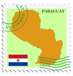 mail to-from Paraguay vector image vector image