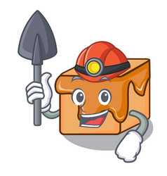 miner caramel candies mascot cartoon vector image