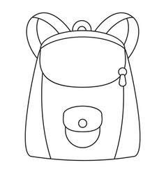 Modern backpack icon outline style vector