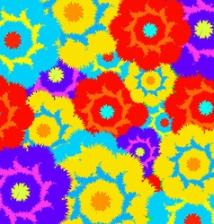Multi-colored furry flowers Exotic abstract colors vector