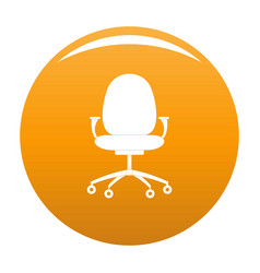 New chair icon orange vector
