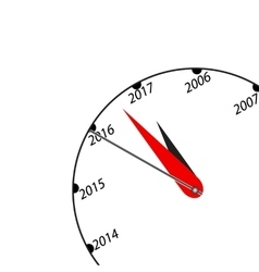 New Year black and white clock vector image