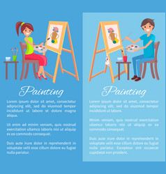 painting process banner color vector image