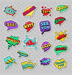 pop art comic speech bubbles vector image