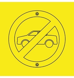 Prohibited traffic sign round icon design vector