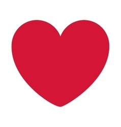 red heart design icon flat vector image