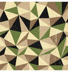 retro triangles background vector image