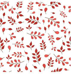 Romantic red fern seamless pattern vector