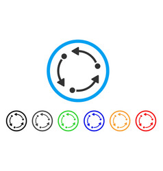 rotate rounded icon vector image