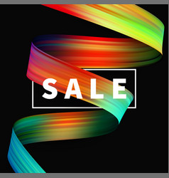 sale banner special message decoration for vector image