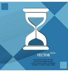 Sand clock Glass timer Flat modern web button vector image