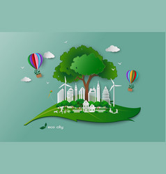 save the environment conservation ecology concept vector image