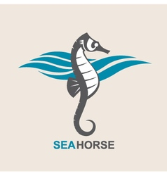 sea horse image vector image