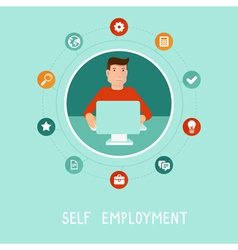 self employment vector image