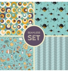 set of four seamless background vector image
