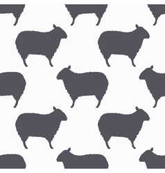 Sheep silhouette seamless pattern Lamb meat vector