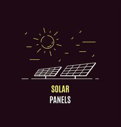 solar energy logo template flat style icon design vector image