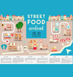 street food weekend vector image