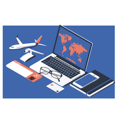 The concept buying online ticket booking vector