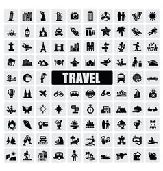 Travel and landmarks vector