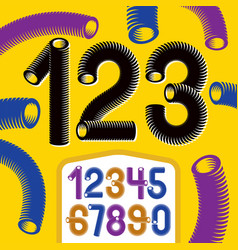 trendy numerals collection modern funky numbers vector image